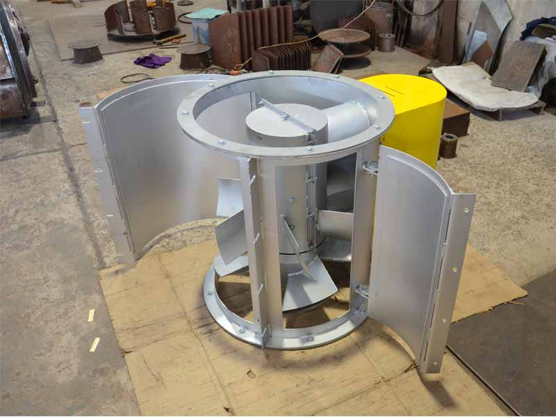 Vane Axial Fan : Gallery vane axial fan with clam shell housing for